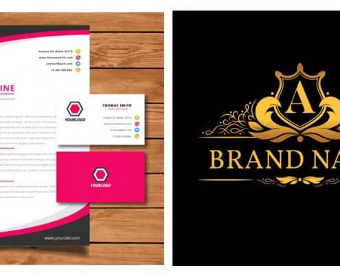 logo, letterhead and business cards